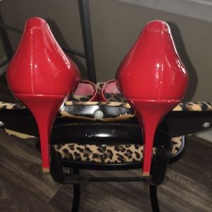 Jessica Simpson Shoes - Red peep toe pumps